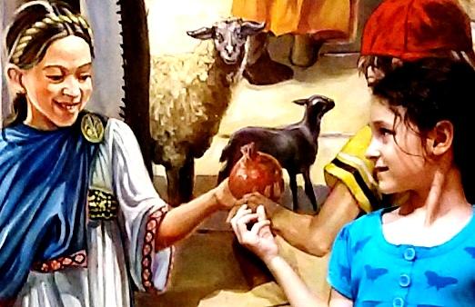 רימון כציור קיר בקארדו | צילום נעמי גולן
